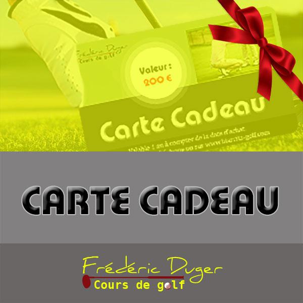 Carte cadeau Cours de Golf Biarritz Frédéric Duger