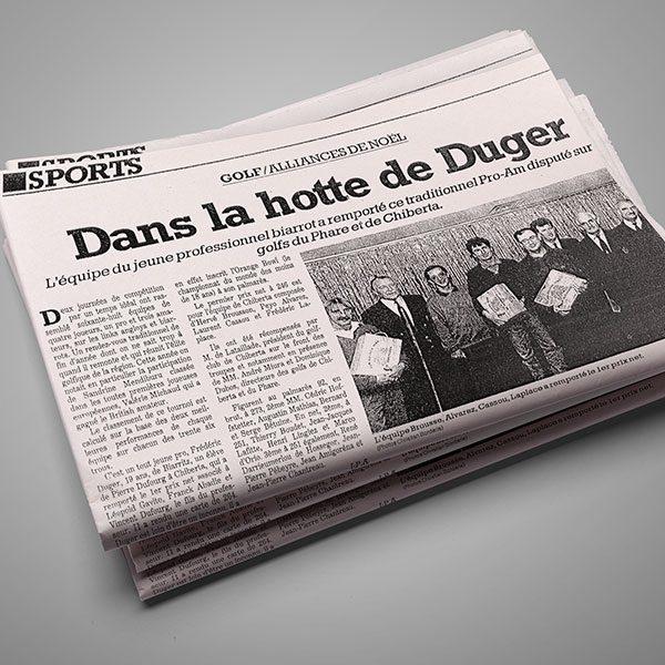 revue_de_presse_Frederic_Duger_Golf_Biarritz_Dans la hotte de Duger