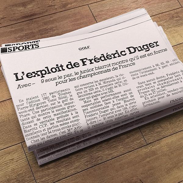 revue_de_presse_Frederic_Duger_Golf_Biarritz_L_EXPLOIT DE FREDERIC DUGER