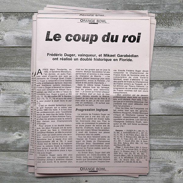 revue_de_presse_Frederic_Duger_Golf_Biarritz_ORANGE BOWL-Le coup du roi